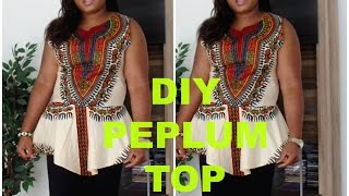 getlinkyoutube.com-DIY Dashiki peplum top