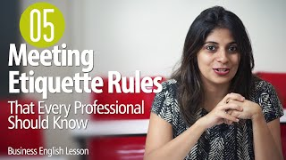 getlinkyoutube.com-05 Etiquette Rules For Business Meetings for Every Professional  - Business English Lesson