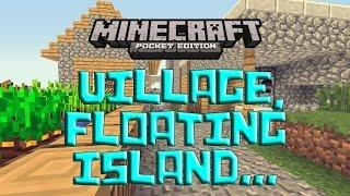 getlinkyoutube.com-EPIC SEED w/ Village, Floating Island - MORE! - Minecraft Pocket Edition