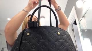 getlinkyoutube.com-Louis Vuitton Empriente Montaigne MM size in noir review!