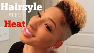 getlinkyoutube.com-NO Heat Hairstyle | Braid out | Shaved Sides and Back