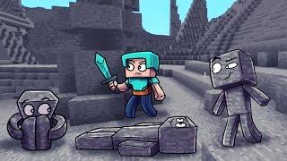 getlinkyoutube.com-I AM STONE! Minecraft Morph Hide and Seek! (I AM STONE CHALLENGE )