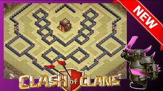 "getlinkyoutube.com-NEW TH10 War Base Anti-Gowiwi/Gowipe ""The Stone Wall"" (275 Walls) - Clash Of Clans"