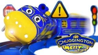 getlinkyoutube.com-Chuggington Merry Train Brewster, Train from Cartoon Toys VIDEO FOR CHILDREN