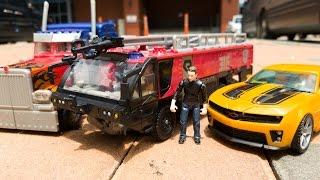 getlinkyoutube.com-Transformers Sentinel Prime Optimus Prime Bumblebee Car Toys 트랜스포머 센티넬프라임 옵티머스프라임 범블비 자동차 장난감 변신 동영상
