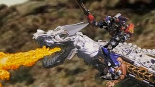 getlinkyoutube.com-Transformers Age of Extinction Grimlock vs Optimus Prime Trailer Stop Motion