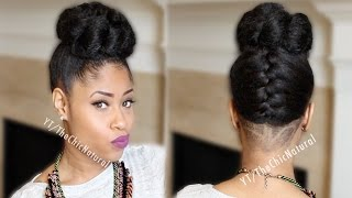 getlinkyoutube.com-Fab French Braided Bun Updo [On Natural Hair]