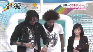 Les Twins on Japanese Tv show 2014