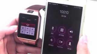 getlinkyoutube.com-smart watch DZ09 SmartWatch bluetooth with camera dialing retail box