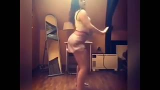 American hot girl dancing on hit Hollywood song