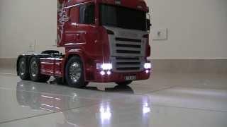 getlinkyoutube.com-Caminhão/Cavalo Mecânico Tamiya Scania R620 Highline 6x4 - TA-56323