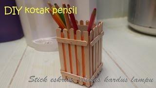 getlinkyoutube.com-Diy cara membuat tempat pensil dari stick es krim