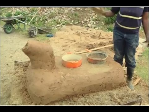 Hand crafted All clay 0$ Clay Rocket Stove (better version)