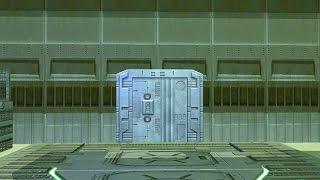 getlinkyoutube.com-spaceship cargo bay with a opening door - green screen effect