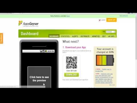 كيفية انشاء تطبيق او متصفح لهاتفك الاندوريد