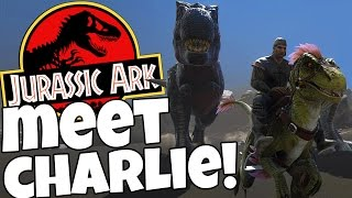 Ark Survival Evolved  -Killing a T-Rex - Taming A Raptor - Ark Gameplay Highlights