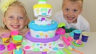 getlinkyoutube.com-Play-Doh Sweet Shoppe Cake Mountain