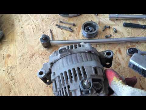Снимаем генератор и меняем подшипники на Мазда 6  1,8 2007 года  Mazda 6