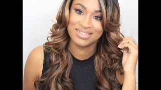 getlinkyoutube.com-Model Model Deep Invisible Part Wig Style Ria