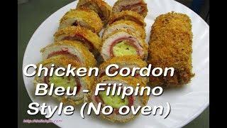 getlinkyoutube.com-Chicken Cordon Bleu - Filipino Style (No oven)