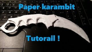 getlinkyoutube.com-Jak zrobić papierowy karambit / How to make paper karambit (CS:GO)