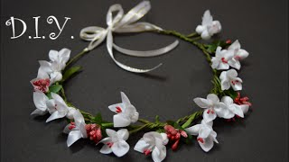 getlinkyoutube.com-✾ ❀ ❁ D.I.Y. Flower Crown Tutorial | MyInDulzens ✾ ❀ ❁