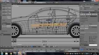 getlinkyoutube.com-Car modeling in Blender (моделирование автомобиля)  Timelapse