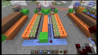 【Minecraft】低コストカボチャ自動回収機