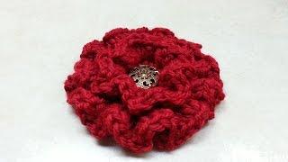 getlinkyoutube.com-CROCHET How to #Crochet Ruffle Flower #TUTORIAL #134
