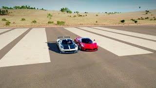 LaFerrari vs Pagani Huayra BC - DRAG RACE! Forza Horizon 3