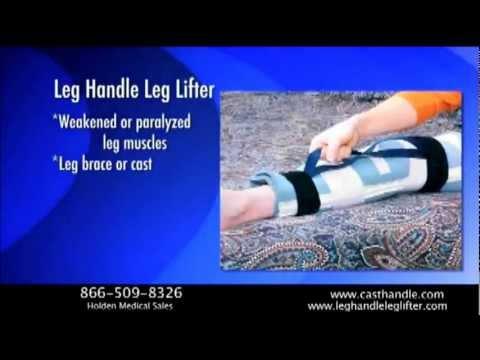 Leg Handle Leg Lifter for long leg casts, braces and paralysis.wmv