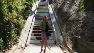 getlinkyoutube.com-Test Footage Canon G7x featuring Beholder MS1 Camera Stabilizer 2.0 Silver Lake Stairs