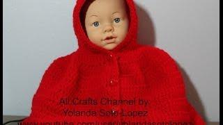 """getlinkyoutube.com-Aprenda a tejer una Capita en #Crochet inspirada por """"capercuita roja"""" -video uno"""