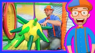 getlinkyoutube.com-Learn Colors with Blippi at the Indoor Playground | 1 Hour