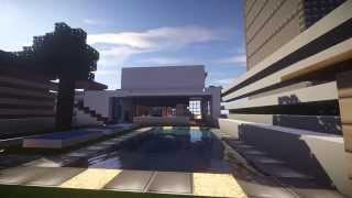 getlinkyoutube.com-Minecraft Modern House Design |마인크래프트 모던 하우스 (건축)