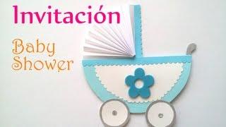 getlinkyoutube.com-Manualidades: INVITACIONES para BABY SHOWER - Innova Manualidades