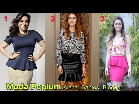 Aprenda a fazer Molde blusa Peplum por Alana Santos Blogger