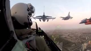 فديو رائع تصوير من داخل طائرة f16