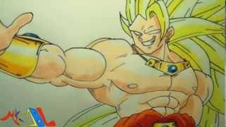 getlinkyoutube.com-Dibujando a: Broly SSJ3