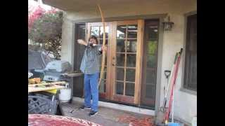 Homemade 45 lb Hunting Bow - Red Oak Flatbow / Longbow