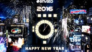 getlinkyoutube.com-New Year Countdown Clock 2016 - The City (After Effects Template)