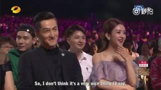 getlinkyoutube.com-[ENGSUB] 161016 HU GE 胡歌 Introduction by MC - Golden Eagle Awards 2016