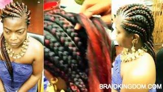 getlinkyoutube.com-Easy way to do Ghana Braids
