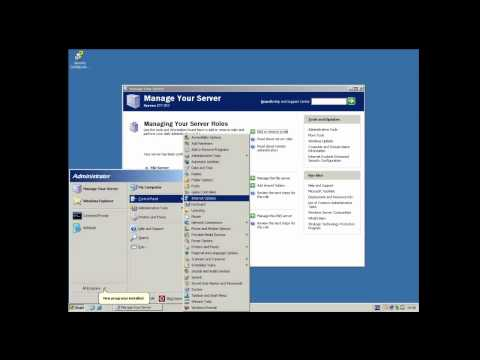 How to install active directory in Windows Server 2003