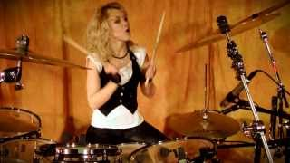 getlinkyoutube.com-In This Moment - Adrenalize (DRUMCOVER by VERONIKA LUKESOVA)