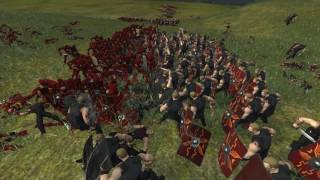 getlinkyoutube.com-Flash Vs Hawkeye - Massive superheroes Battle Total War Rome 2 Game Play Mod