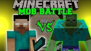 getlinkyoutube.com-HEROBRINE VS. MUTANT ZOMBIE - Minecraft Mob Battles - Polkz and Mutant Creatures Mod Battle