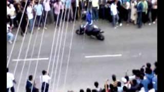 Dangerous  Bike stunts by Handa Javed - IIT Roorkee