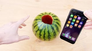 getlinkyoutube.com-Don't Pour Hot Piranha Acid in Watermelon with iPhone 7!