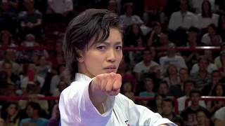 getlinkyoutube.com-Final Female Kata. Rika Usami of Japan. 宇佐美 里香。空手